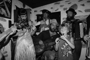 Greece, Isle of Phalegendros, Pirate Bar w/ Shiri Goldsmith, Fred Normal, Nicco, Merry Go Round, Aaron, & Wolf(?)
